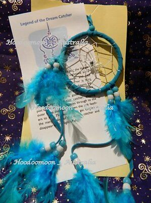 Childs Dream Catcher - Worry Doll -  Turquoise - Crystal Comfort Pack