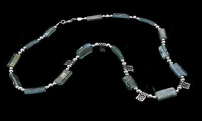 Roman Glass Necklace Sterling Silver 925 Authentic & Luxurious with Certificate.