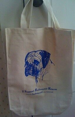 Bullmastiff Canvas Tote Bag, Benefits Bullmastiff Rescue!