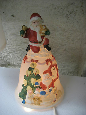 Christmas Santa lighted bell Christmas around the world in box
