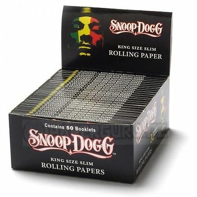 1 Box (50x) Snoop Dogg Rolling Papers King Size slim Blättchen Longpapers