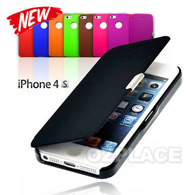 New Hot Luxury Flip ViewFor Apple iPhone 4 4S Case Cover