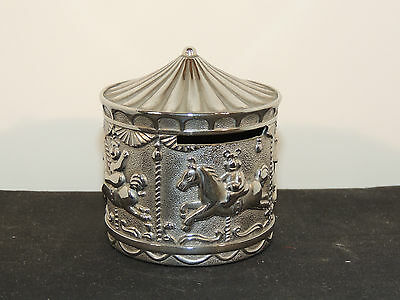 Silverplate Carousel Bank over 2 inches  (5786)