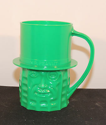 Mr. Peanut Green Plastic Cup over 3 inches tall (5815)