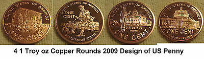 2009 Lincoln Bicentennial Pennies Copper Rounds & 2008 thru 2010 Penny Set