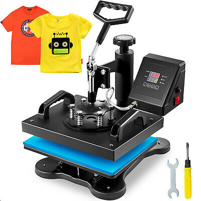 "Digital Heat Press Machine T-Shirt Sublimation Printer Transfer 12""x10"" Pressing"
