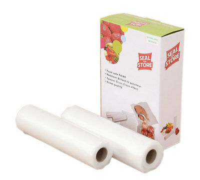 MEGA Value Quality Vacuum Food Saver Sealer Bag Rolls 22cm x 5m plus FREE gift