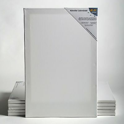 "6 B.K. BASIC STRETCHED CANVASES | ~12""x16"", 100% cotton 