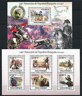 MOZAMBIQUE MOSAMBIK 2009 SET BLOCK MINI SHEET NAPOLEON MNH MiNr: 3413 A - 3418 A