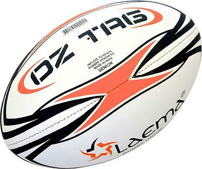 OzTag Senior Junior Match Ball-Ultra Raised Pin Grip 4PLY Rugby Union Touch Ball
