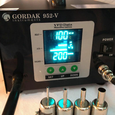 Soldering Iron Rework Station Gordak 952V 220V 2-in-1 Hot Air station Hot Iron