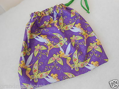 Library Tote Bag Drawstring Tinkerbell with Butterflies Great Gift Idea!!