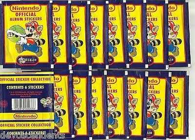1992 MERLIN NINTENDO 16 Sealed Packets Super Mario Bros Zelda Game Boy