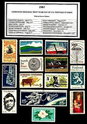 1967 Complete Year Set Of Mint -Mnh- Vintage U.s. Postage Stamps