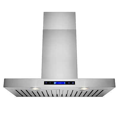 "30"" Stainless Steel Wall Mount Powerful Range Hood Kitchen Stove Vents w/ Remote"