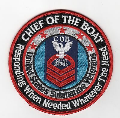 Chief of the Boat Responding When Needed Whatever The Need BC Patch Cat No C6651