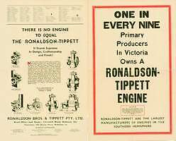 One in Every Nine Primary Produces in Victoria Owns a Ronaldson-Tippett Engine