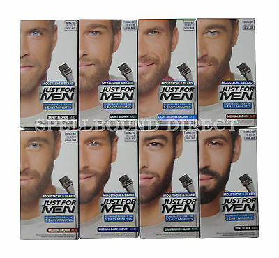 Just For Men Beard & Moustache Gel Colour Dye Discreet Packaging