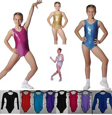 Leotard Roch Valley Girls Dance Gymnastics Leotards Metallic + Nylon Lycra