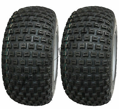 2 - 18x9.50-8 knobby tyres on ball bearing rims - ATV trailer - quad wheels