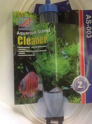 aquarium fish tank gravel cleaner delux