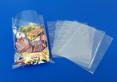 25-1000 Clear Cello Bags Poly Wrapper Cellophane Polypropylene Food Baggies