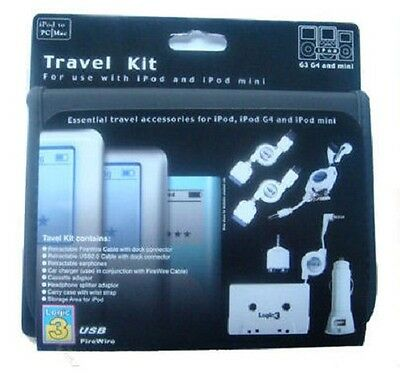 LOGIC3 Travel Kit for Apple iPod Car-Charger Cassette Adapter & Sync Cable
