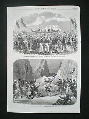 Hayling Island Lifeboat Hampshire Bishop Of Chichester Old Page / Print 1865