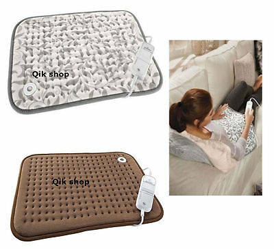 Electric Stomach & Back Heating Pad Pain Stress Relief With 6 Heat Setting