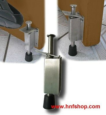 1pc of stainless steel DOOR DRAFT STOPPER, Stop & Release by Foot