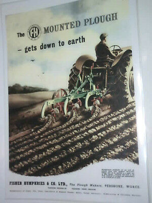 The FH Mounted Plough (Fisher Humphries) colour poster