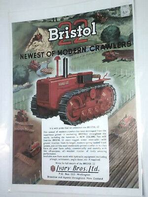 Bristol 22 Newest of Modern Crawlers 1953 colour/laminated A3 poster