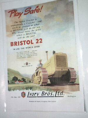 Bristol 22 Play Safe 1954 colour/laminated A3 poster
