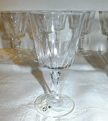 CRISTAL D'ARQUES VERSAILLES WINE GOBLET GLASS (10 available) price for one EXC