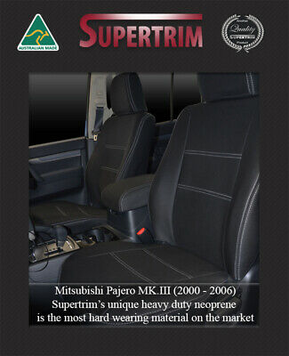 Perfect Fit Mitsubishi Pajero Front Pair Of Waterproof Neoprene Car Seat Covers