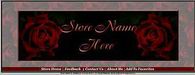 Dreams of Roses Store Front Header Template