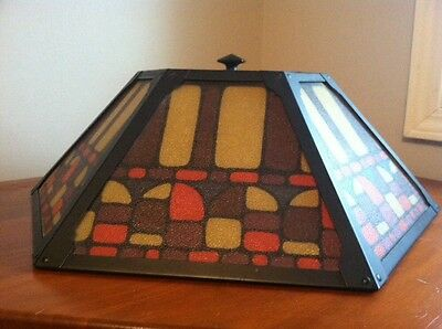 ARTS & CRAFT LAMPSHADE STAINED GLASS  Extra Large