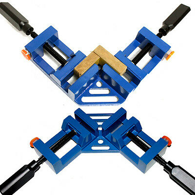 2Pc Quick Action Corner Clamp, Welding Framing Wood Working Vice, Aluminum Alloy