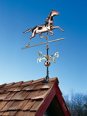 Large Copper Horse Weathervane - Polished Copper Equestrian Horse-w/Mount