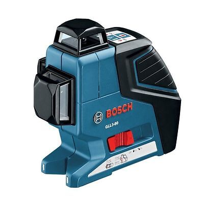 NEW Bosch GLL3-80 360 Degree Vertical and Horizontal Line Laser Level