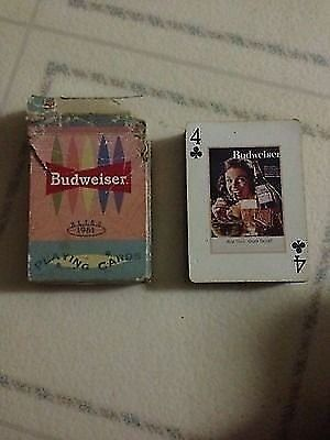 1961 Budweiser Retro Playing Cards By Bicycle!!!!! Good Condition!!!!!