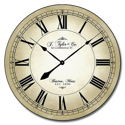 "Large wall clock, Fairwind Clock, 12""- 48"" Whisper Quiet, Non-Ticking"