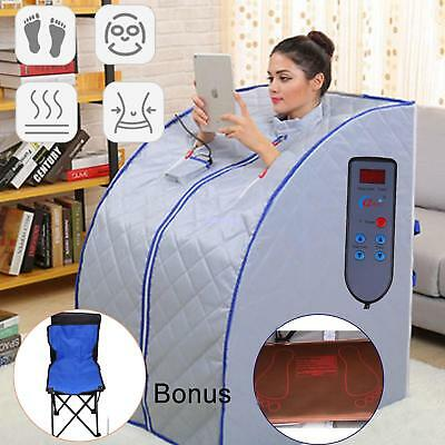 600W Sauna Portable Ultra Far Infrared Tent Room Detox Full Body Lose Weight