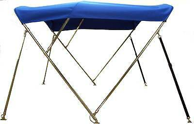 Bimini Top 6' long with Stainless Steel Frame - Sunbrella - You Pick The Color