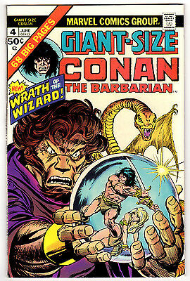Giant Size Conan The Barbarian #4 8.5 Off-White Pages Bronze Age