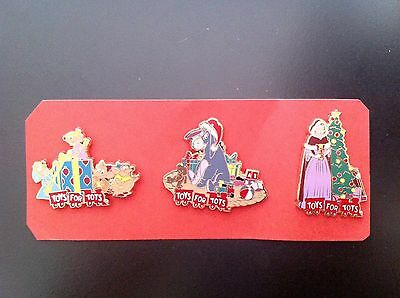 Disney Pin DSF Toys For Tots-SET of 3 PINS! Eeyore, Belle & Mice-LE500 NEW!!