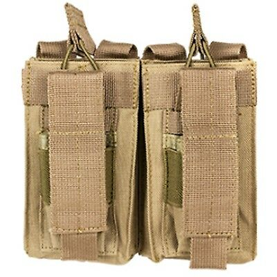 NEW NcSTAR .223 5.56 7.62 TAN Double PALS MOLLE Mag Rifle Magazine Pouch Holster