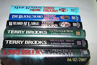 """LANDOVER SERIES, 6 VOLUMES"" by Terry Brooks, SIGNED BY THE AUTHOR"