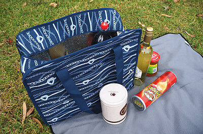 Large Market Thermal Tote Insulated Cooler Picnic Bag + Free Insulate lunch bag
