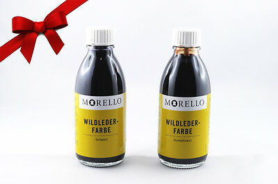 Morello Wildlederfarbe (8,49€/100ml) Velours Nubuk Rau Rauh Leder umfärben 100ml